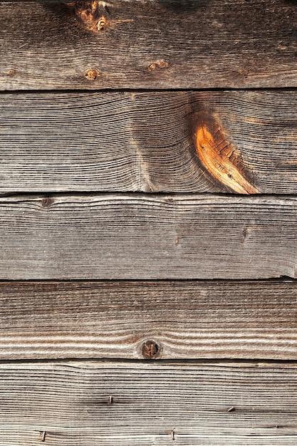 Gefotografeerd close-up deel van de muur gemaakt van planken, Premium Foto