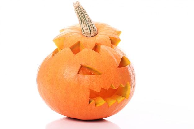 Geïsoleerde halloween pompoen Gratis Foto