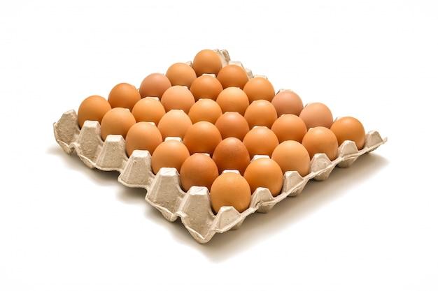 Geïsoleerde lade van eieren Premium Foto