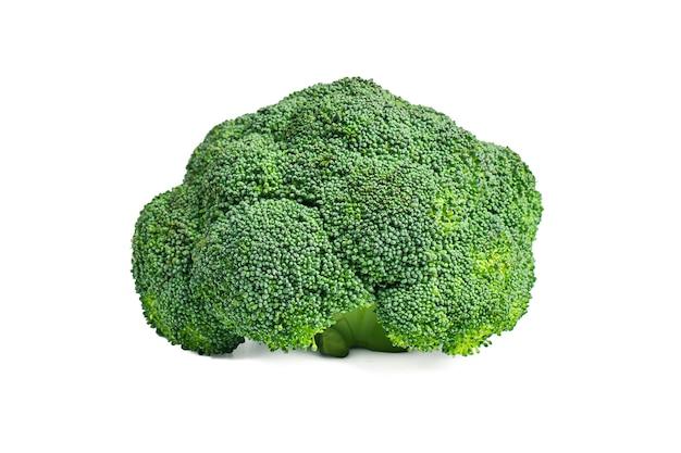 Gele broccoli op een witte achtergrond Gratis Foto