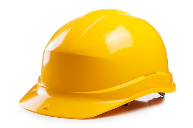 Gele helm op de tafel Gratis Foto