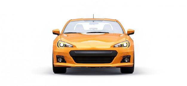 Gele kleine sportwagencoupé Premium Foto