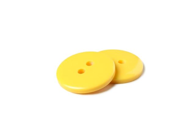 Gele knoppen geïsoleerd op wit Premium Foto