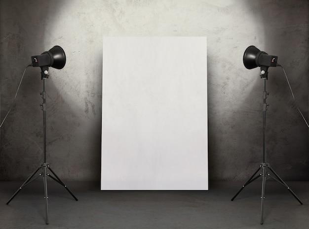 Geleide lichte refelct op muur Premium Foto