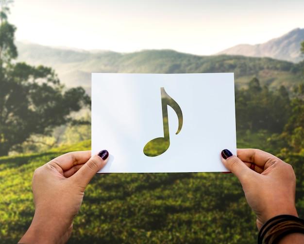 Geluid van muziek geperforeerde paer muzieknoot Gratis Foto