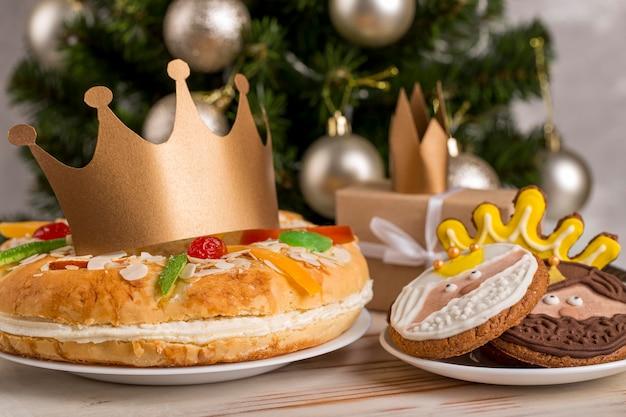 Gelukkig epiphany smakelijke cake Gratis Foto