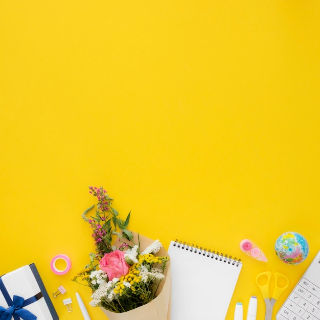 Gelukkig leraar dag frame concept Premium Foto