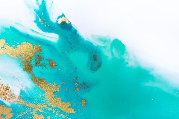 Gemarmerde blauwe abstracte golfachtergrond in oceaanstijl. Premium Foto