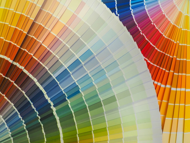 Gemengde kleuren verf. decoratieve gekleurde achtergrond. Premium Foto