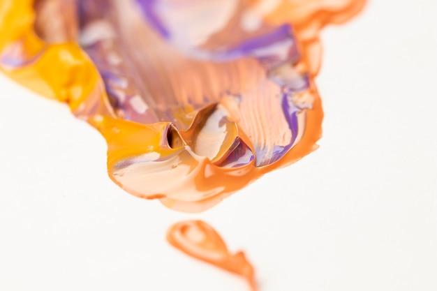 Gemengde oranje en paarse verf Gratis Foto
