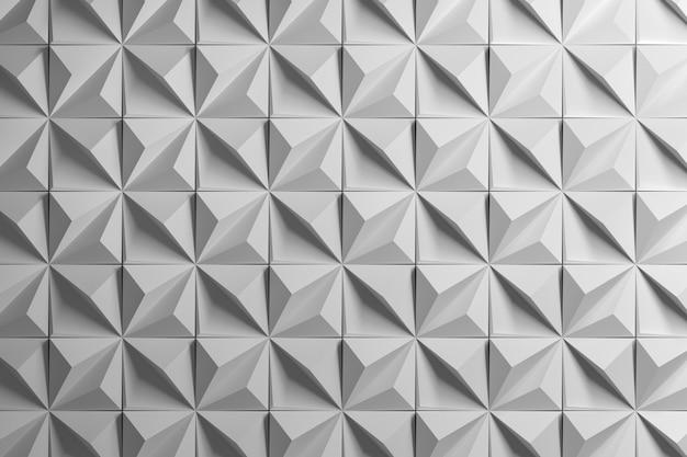 Geometrisch veelvlakpatroon met piramides Premium Foto