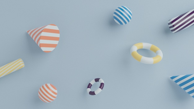 Geometrische abstracte vormen Premium Foto