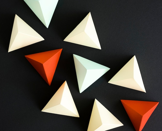 Geometrische driehoeksvorm Premium Foto