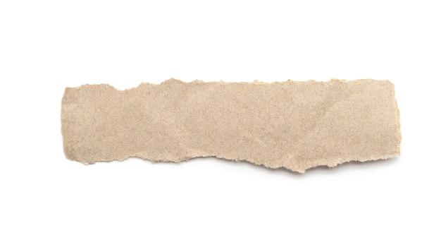 Gerecycleerde papieren ambachtelijke stok op een witte achtergrond. Premium Foto