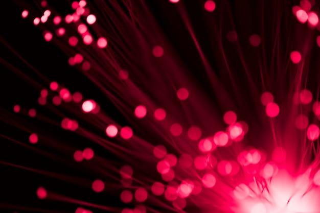 Gerichte en vage lichten van optische vezels Gratis Foto
