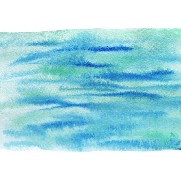 Geschilderde zee achtergrond. aquarel schilderij textuur. Premium Foto