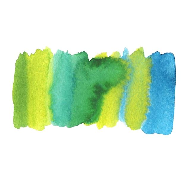 Geschilderde zomer achtergrond. aquarel schilderij textuur. Premium Foto