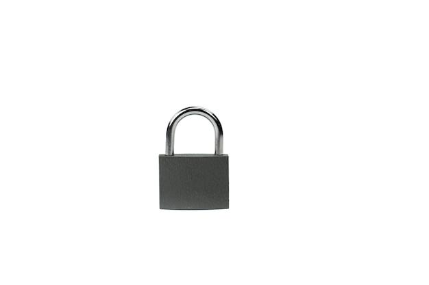 Gesloten hangslot - symbool van beveiliging, informatie en bescherming van persoonsgegevens Premium Foto