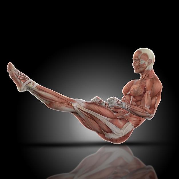 Gespierde man met opgeheven benen Gratis Foto