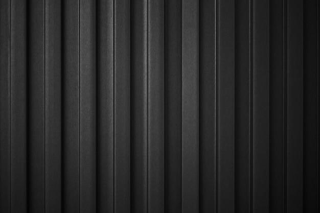 Gestreepte zwarte golf stalen metalen plaat lading container lijn industrie muur structuurpatroon voor achtergrond. Premium Foto