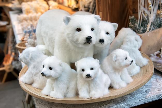Gevulde witte beren Premium Foto