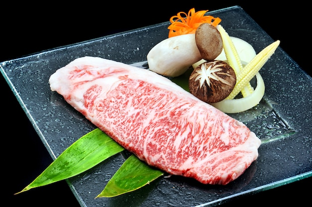 Geweldig japans wagyu-rundvlees Premium Foto