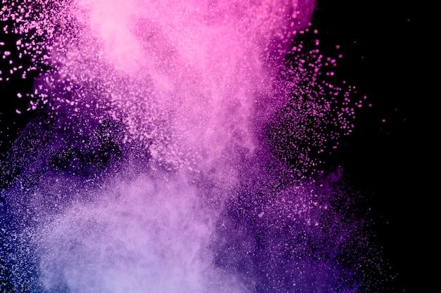 Geweldige vliegende kleurrijke kleurstofwolk Gratis Foto