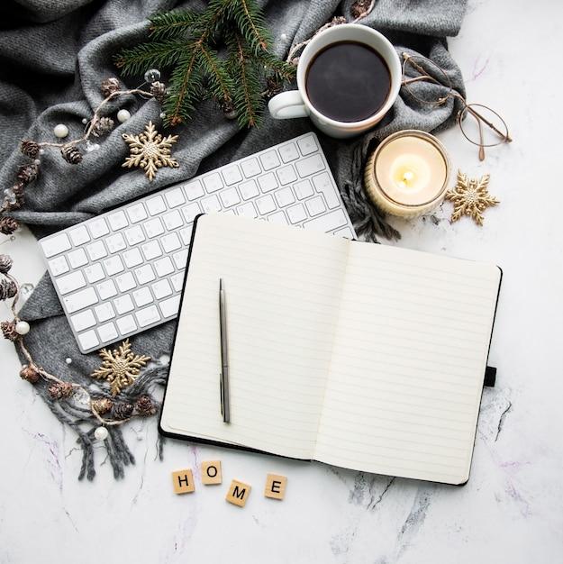 Gezellig winterconcept Premium Foto