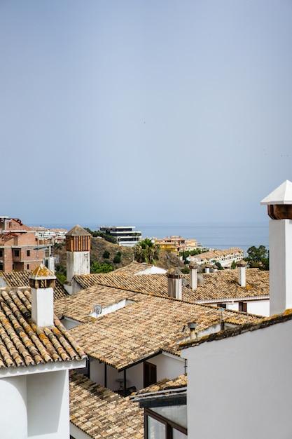 Gezellige straatjes van een klein stadje in het zuiden van spanje Gratis Foto