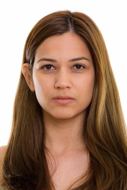 Gezicht van jonge mooie vrouw Premium Foto