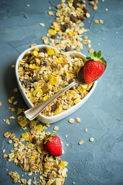 Gezond ontbijt concept Premium Foto