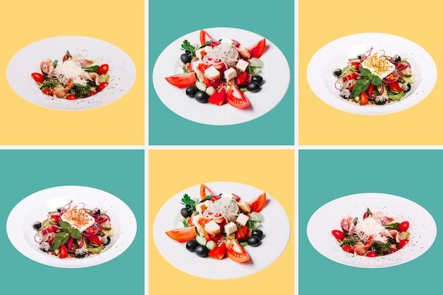 Gezonde maaltijdverzameling Gratis Foto