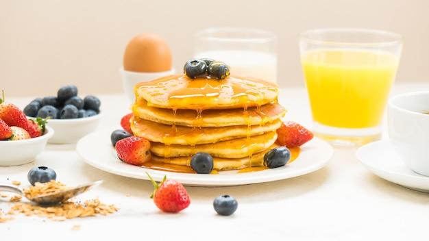 Gezonde ontbijtset Gratis Foto