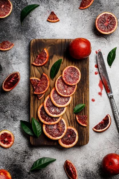 Gezonde oranje vruchten veel oranje vruchten als achtergrond Premium Foto