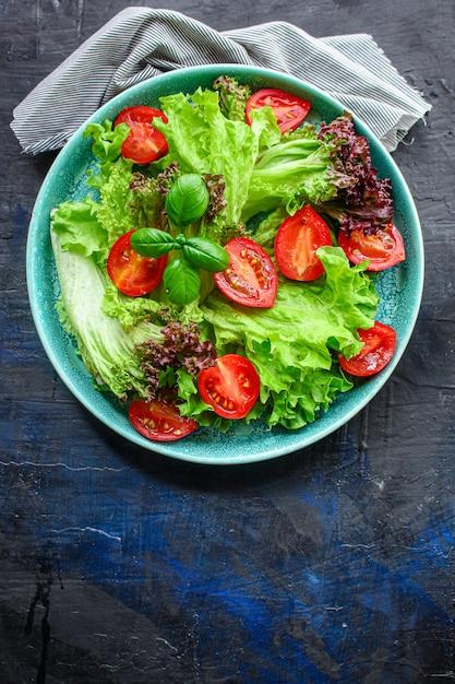Gezonde salade bladeren mix Premium Foto