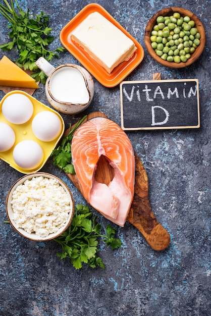 Gezonde Voeding Met Vitamine D Premium Foto