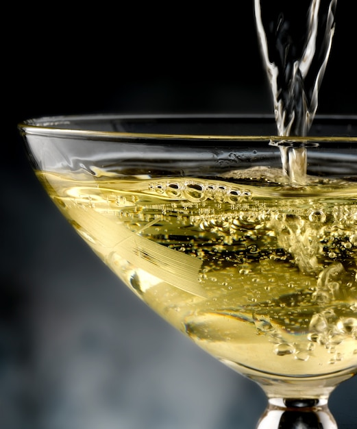 Glas champagne, schuimwijn Premium Foto