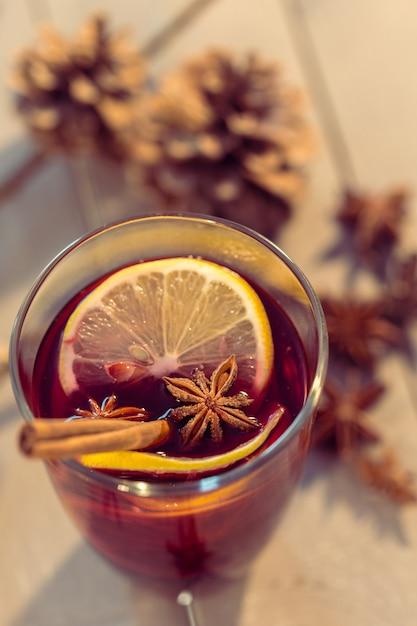 Glas glühwein Premium Foto