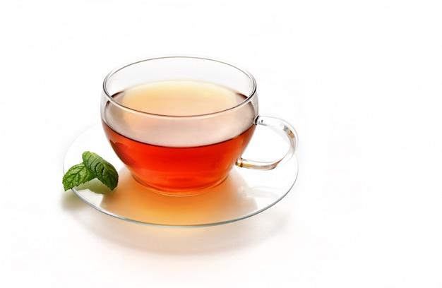 Glazen kopje thee Premium Foto
