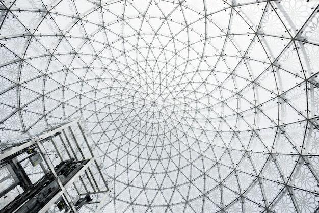 Glazen plafondarchitectuur Premium Foto