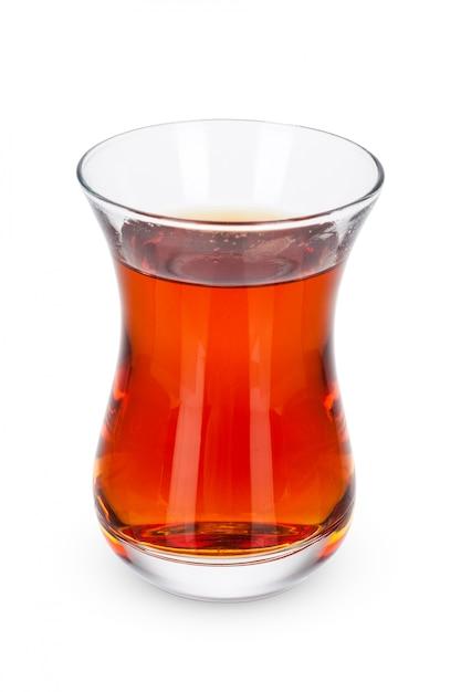 Glazen thee beker geïsoleerd Premium Foto