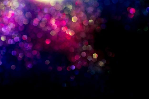 Glitter bokeh-lichteffect kleurrijke vage abstracte achtergrond Premium Foto