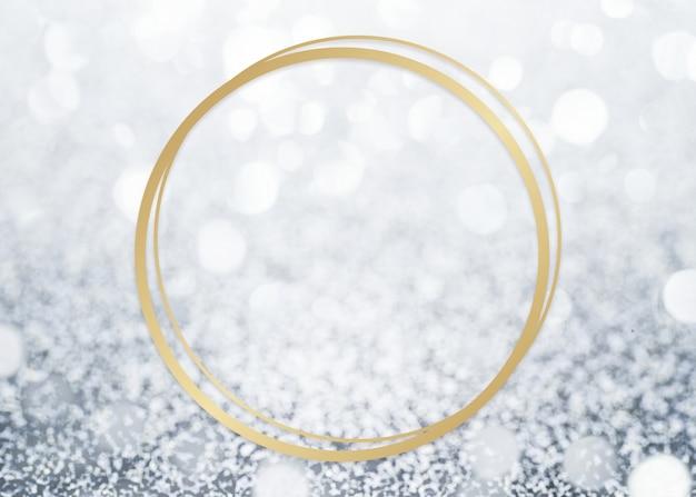 Glitter gestructureerde achtergrond frame Gratis Foto