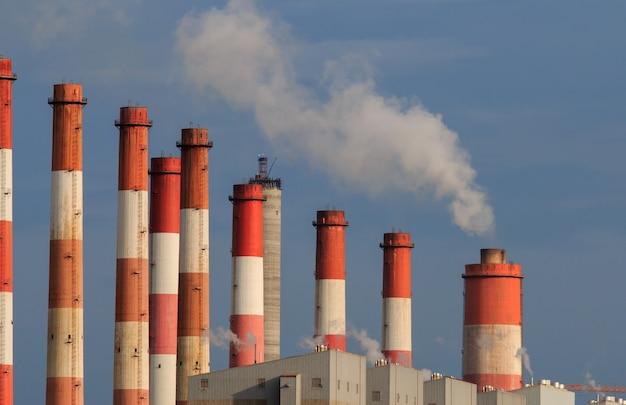 Globale opwarming van de aarde uitstoot vervuiling Premium Foto