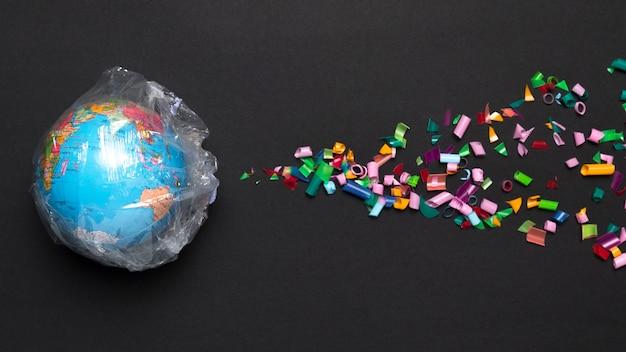 Globe bedekt met plastic Gratis Foto