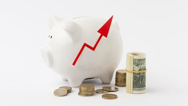 Goede persoonlijke economie en spaarvarken Gratis Foto
