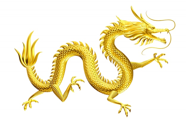 Golden dragon gelukkige leider komt naar u met familie en vrienden Premium Foto