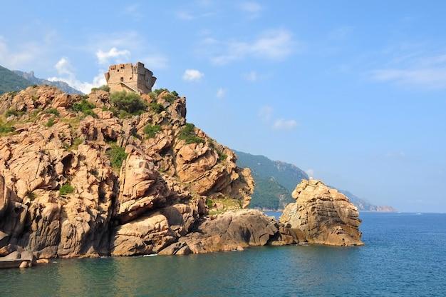 Golf van porto in corsica Premium Foto