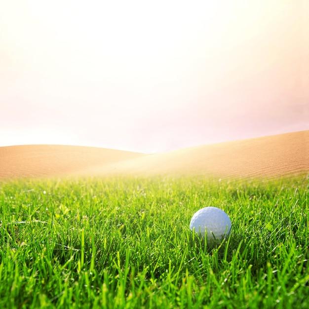 Golfbal op de golfbaan. Gratis Foto