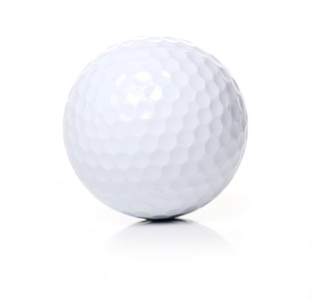 Golfbal op wit Gratis Foto